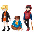 set of urban troble kids vector image vector image