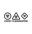 set on biohazard or biological threat alert icon vector image vector image