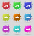 Shoe icon sign A set of nine original needle vector image vector image