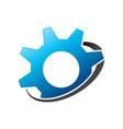 simple gear satellite engineering symbol design vector image vector image
