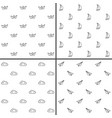 simple minimalist seamless patterns set vector image