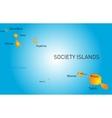 society island vector image vector image