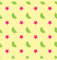 summer seamless pattern of stars and lemon slices vector image