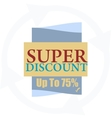 Super discount Sale banner isolated Sale vector image