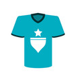 t shirt with star icon image vector image vector image