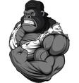 Terrible gorilla athlete vector image vector image