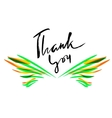 Thank you card Hand drawn lettering Ink vector image