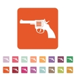 The revolver icon Gun and weapon symbol Flat vector image vector image