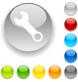 Tools button vector image