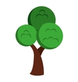 tree silhouette isolated icon design vector image