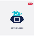 two color board game box icon from entertainment vector image vector image