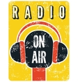 Typographic retro grunge radio station poster vector image vector image