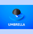 umbrella isometric icon isolated on color vector image vector image