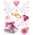 wedding art for invitations vector image vector image
