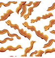 White bacon textile print food seamless pattern vector image vector image