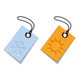 Winter and summer tags vector image