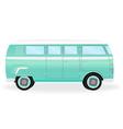 colorful retro travel bus cartoon hippie van vector image