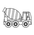 mixer truck icon vector image