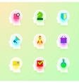 Human Brain Icons Set for Business Plan Strategy vector image
