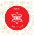 christmas and happy new year icon with snowflake vector image