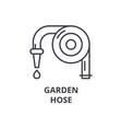 garden hose line icon outline sign linear symbol vector image