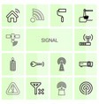 14 signal icons vector image vector image