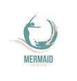 an example an abstract mermaid logo vector image