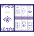 arabic ornate booklet vector image vector image