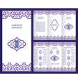 arabic ornate booklet vector image