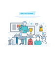 back to school education e-learning online vector image