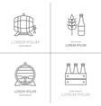 Beer logos design vector image