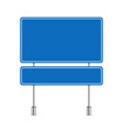 blank blue road sign vector image vector image