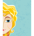 Blond Girl Face Part Close up vector image vector image