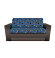 blue dotted sofa icon cartoon style vector image