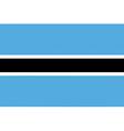 botswanan flag vector image vector image