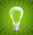 bulb with sunburst background vector image vector image
