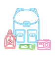 camping neon concept vector image vector image