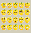 cartoon yellow Bulgarian pepper smile vector image vector image