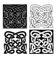 Celtic knot pattern of tribal snakes interlacement vector image vector image