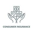 consumer insurance line icon consumer vector image vector image