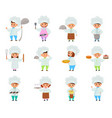cooking child children characters boy girl vector image vector image