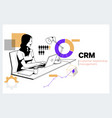 crm customer relationship management business vector image vector image