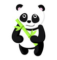 cute panda icon flat style vector image