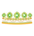 diadem icon beautiful jewelry tiara and vector image vector image