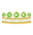 diadem icon beautiful jewelry tiara vector image