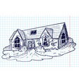 doodle house vector image vector image