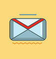 e-mail icon set of great flat icons use for vector image vector image