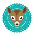emblem bear hunter city icon vector image