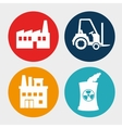 Factories and industries graphic vector image
