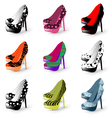 fashion high heels vector image